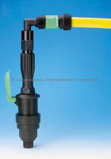 Пластиковый поворотный угловой фитинг ВР3/4 (PSH-0)