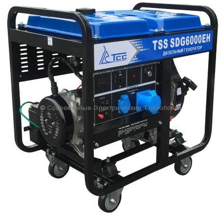 Дизельный генератор ТСС 6кВА/6кВт (TSS SDG 6000EH)