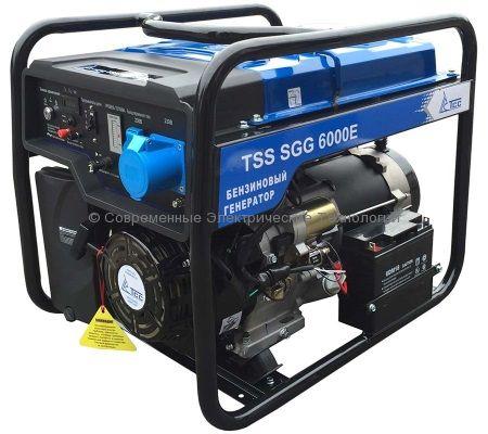 Бензиновый генератор ТСС 7.5кВА/6кВт (TSS SGG 6000 E3) 380В