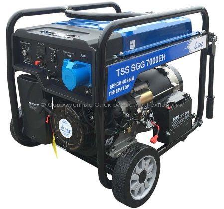 Бензиновый генератор ТСС 7кВА/7кВт (TSS SGG 7000 EН)