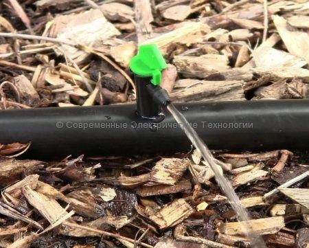 Капельница флажок разборная 16л/час зелёная (TAD0116)