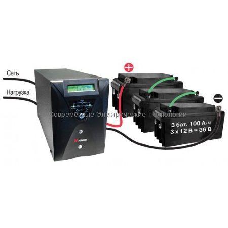 Источник бесперебойного питания N-Power Pro-Vision Black 3000 (PVB3000) 3000ВА/2100Вт