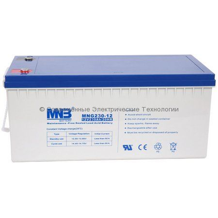 Аккумулятор гелевый MNB 12В 230Ач (MNG230-12)