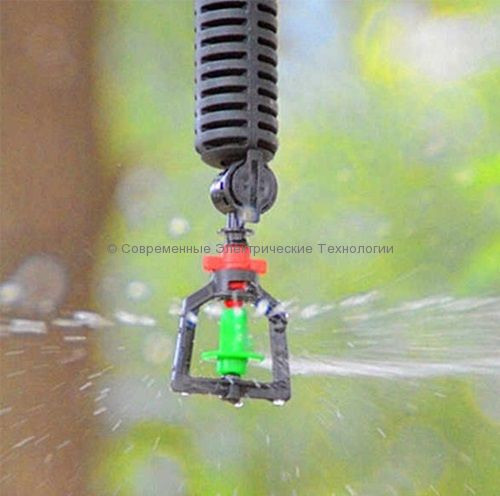 Подвесной миниспринклер 66.6л/час радиус 4.3м зелёный (MS1103A)