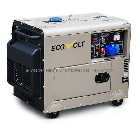Генератор дизельный 5кВт с возможностью автозапуска Ecovolt DG7500SE