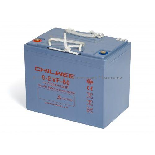 Тяговый гелевый аккумулятор 12В 90Ач (6-EVF-80)