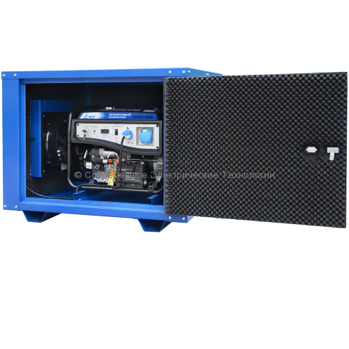 Бензиновый генератор ТСС 7.5кВА/7.5кВт TSS SGG 7500E в кожухе MK-1