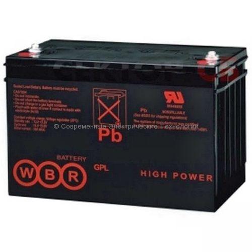 Аккумулятор герметичный карбоновый  12В 100Ач (WBR GPC12-100)