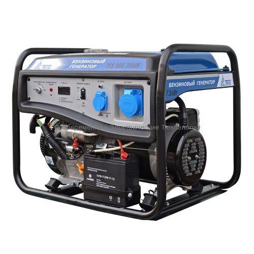Бензиновый генератор ТСС 7.5кВт (TSS SGG 7500 E)