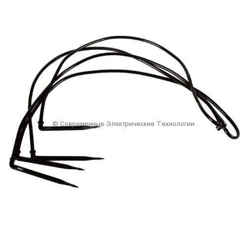 4 капельницы Г-образные лабиринтные с трубкой и адаптером - комплект (2142)