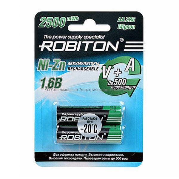 Аккумуляторы Ni-Zn ёмкостью 1500мАч ROBITON 2500NZAA-2