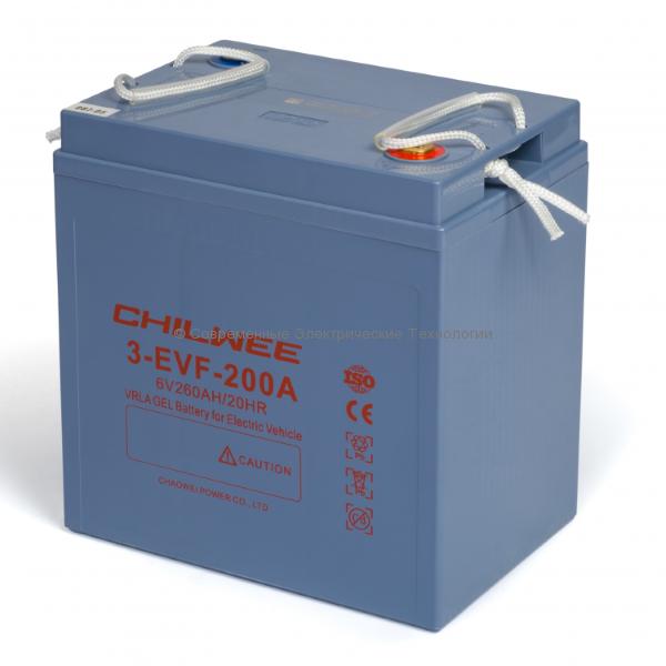 Тяговый гелевый аккумулятор 6В 226Ач (C5) (3-EVF-200A)