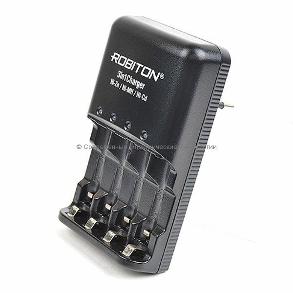 Универсальное зарядное устройство 3in1Charger Robiton на 1-4 аккумулятора