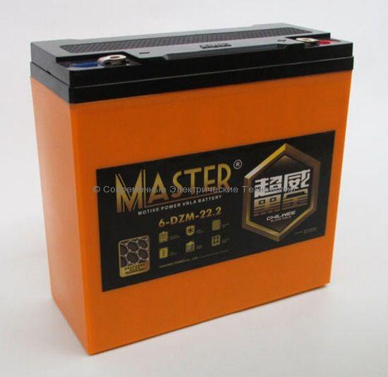 Тяговый гелевый графеновый аккумулятор 12В 26Ач (C5) (6-DZM-22 BG)