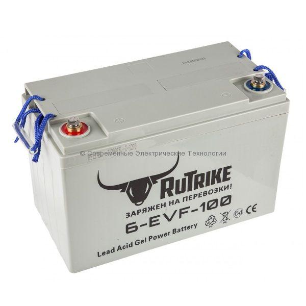 Тяговый гелевый аккумулятор 12В 100Ач (С3) 6-EVF-100A Rutrike