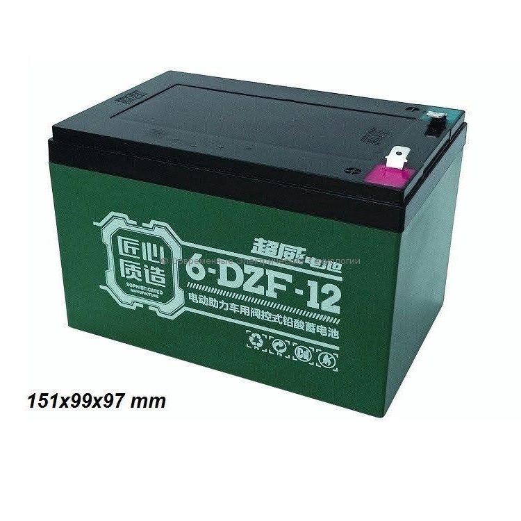Тяговый гелевый аккумулятор 12В 16Ач (C20) 14Ач (C5) 6-DZF-12