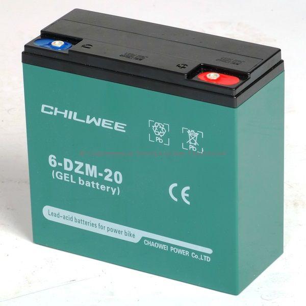 Тяговый гелевый аккумулятор 12В 24Ач (C5) (6-DZM-20)