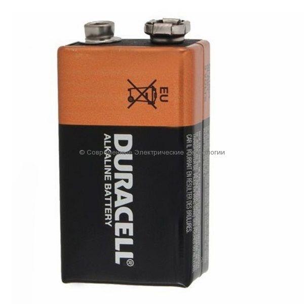 Батарейка Duracell 9V MN1604 алкалиновая 9В