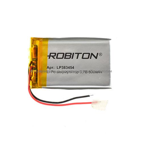 Li-Po аккумулятор LP 383454 3.7В 800мАч Robiton с защитной платой