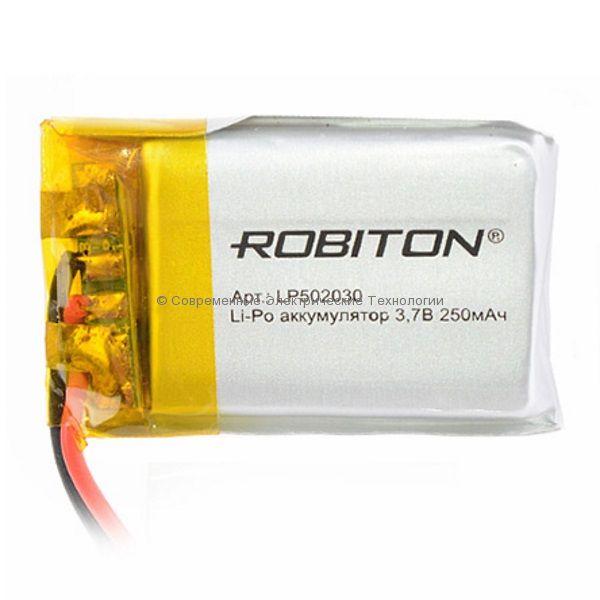Li-Po аккумулятор LP502030 3.7В 250мАч Robiton с защитной платой