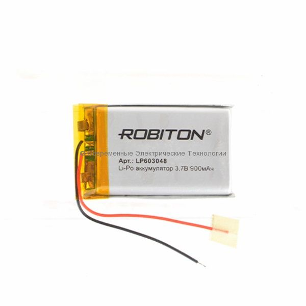 Li-Po аккумулятор LP 603048 3.7В 900мАч Robiton с защитной платой