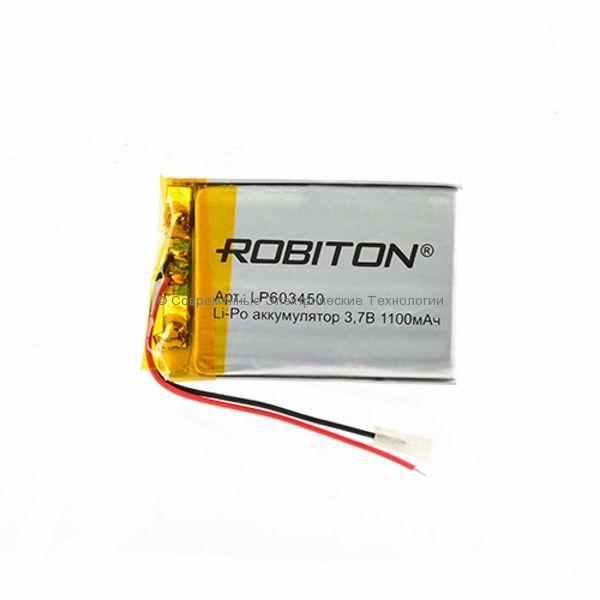 Li-Po аккумулятор LP 603450 3.7В 1100мАч Robiton с защитной платой