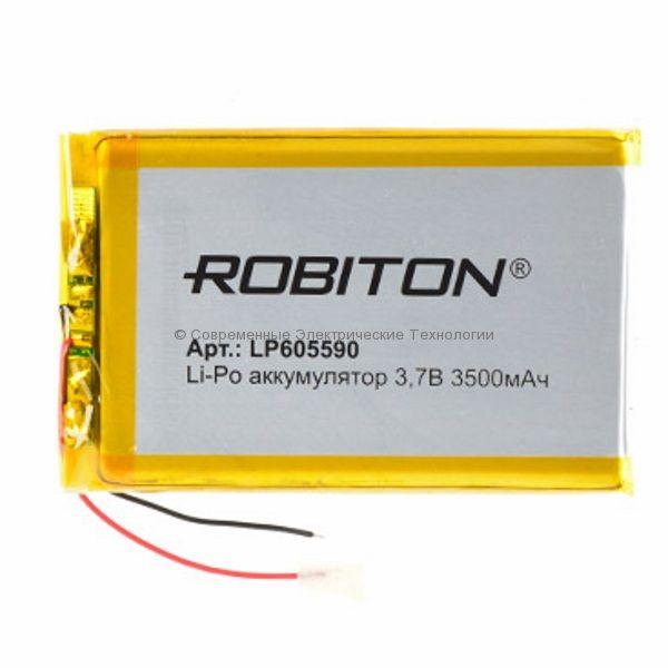 Li-Po аккумулятор LP605590 3.7В 3500мАч Robiton с защитной платой