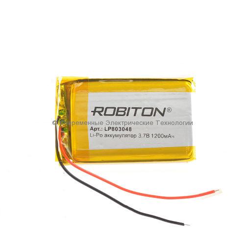 Li-Po аккумулятор LP 803048 3.7В 1200мАч Robiton с защитной платой