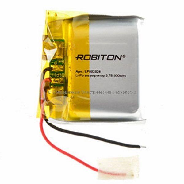 Li-Po аккумулятор LP 852526 3.7В 500мАч Robiton с защитной платой