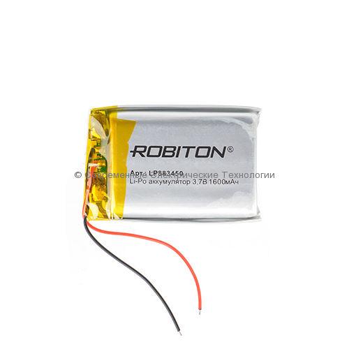 Li-Po аккумулятор LP 883450 3.7В 1600мАч Robiton с защитной платой