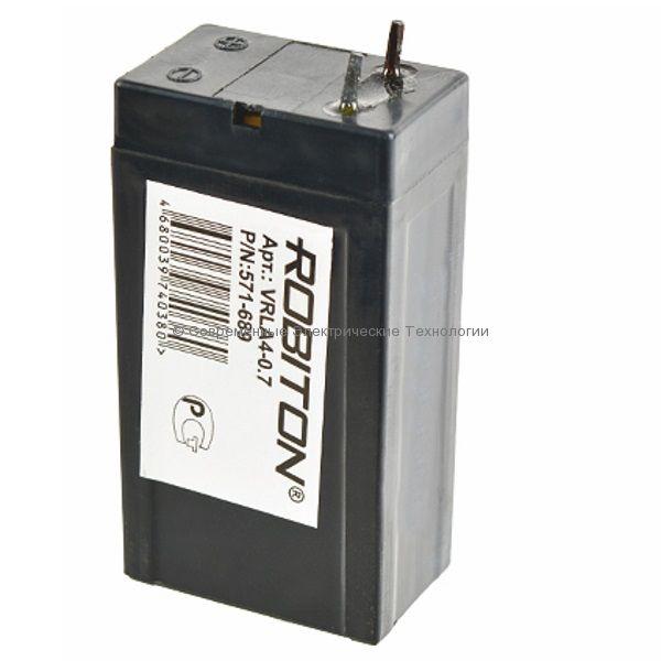 Аккумулятор 4В 0.7Ач Robiton VRLA4-0.7