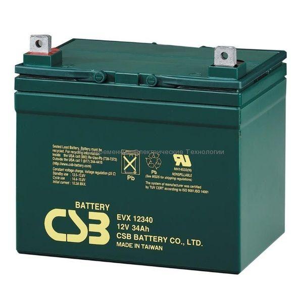 Аккумуляторная батарея 12В 34Ач EVX12340 CSB
