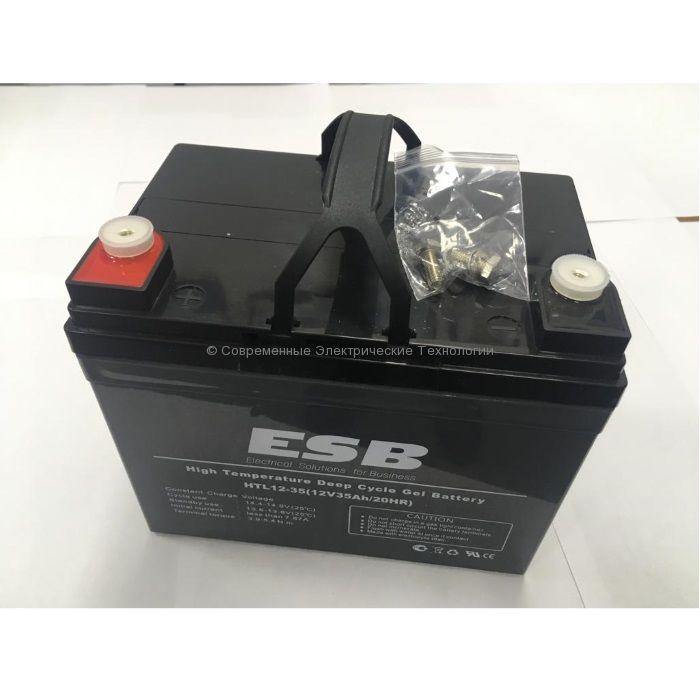 Тяговая гелевая аккумуляторная батарея 12В 35Ач (C20) HTL12-35