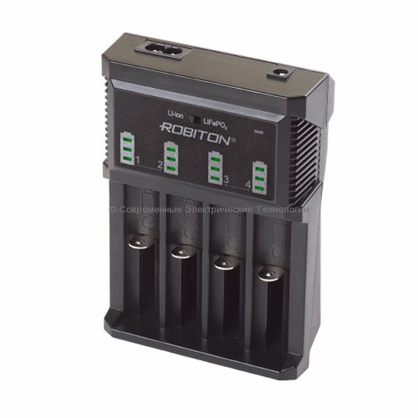 Универсальное зарядное устройство MasterCharger 850 Robiton на 4 аккумулятора