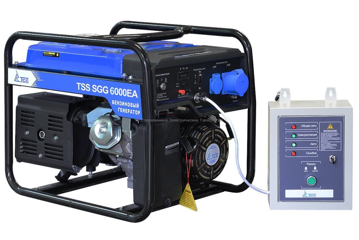 Бензогенератор 6кВА/6кВт SGG 6000 EA c АВР