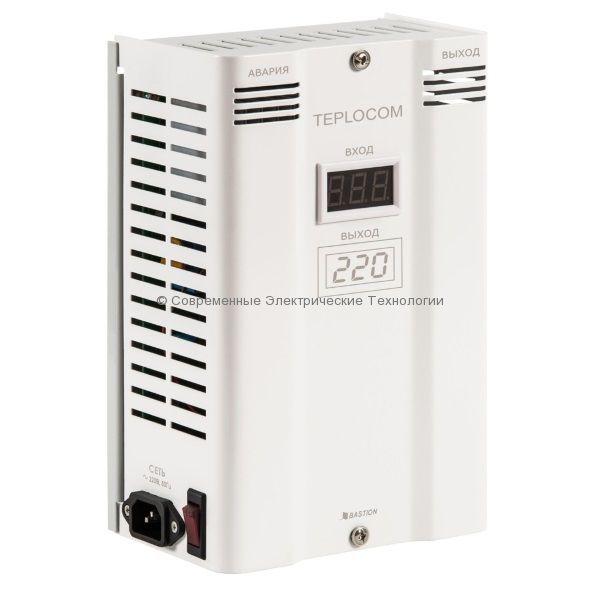 Cтабилизатор напряжения инверторный 600ВА Teplocom ST-600