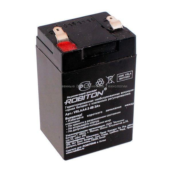 Аккумулятор 4В 3Ач Robiton VRLA4-3
