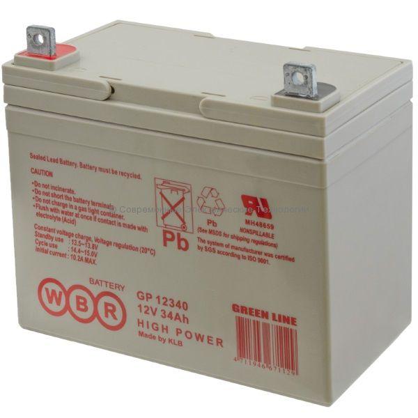 Аккумуляторная батарея 12В 34Ач (GP 12340 WBR)