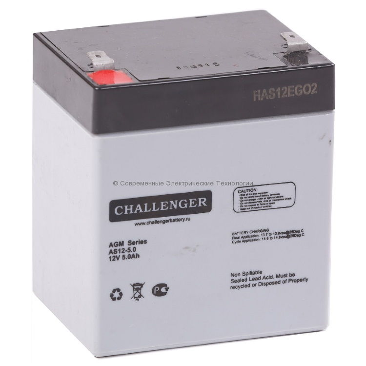 Аккумулятор 12В 5Ач Challenger AS12-5.0