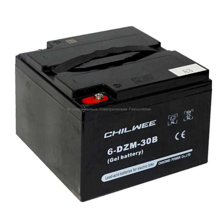 Тяговый гелевый аккумулятор 12В 34Ач (C5) (6-DZM-30B)
