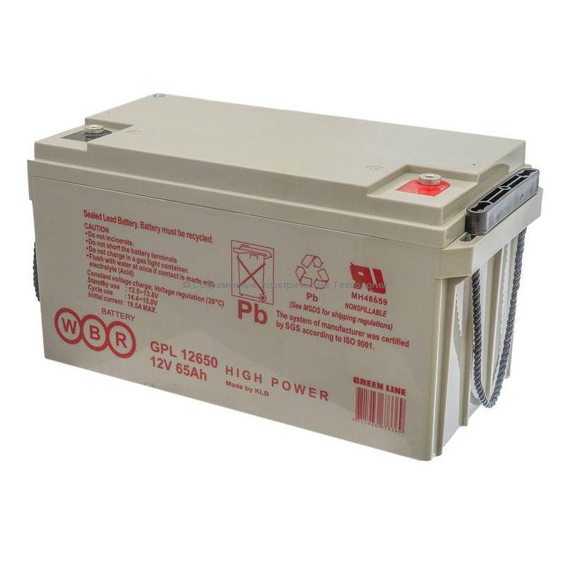 Аккумуляторная батарея 12В 65Ач GPL 12650 WBR