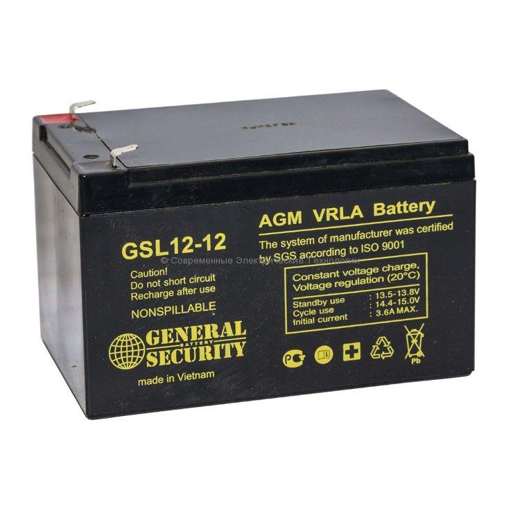 Аккумулятор General Security 12В 12Ач (GSL 12-12)