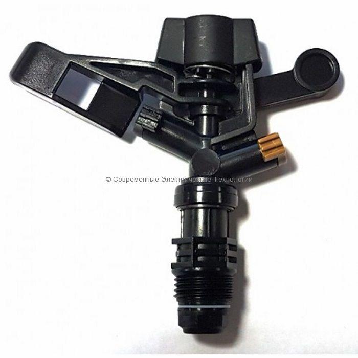 """Спринклер импульсный Н1/2"""" 360 градусов чёрный (RS5022-7)"""