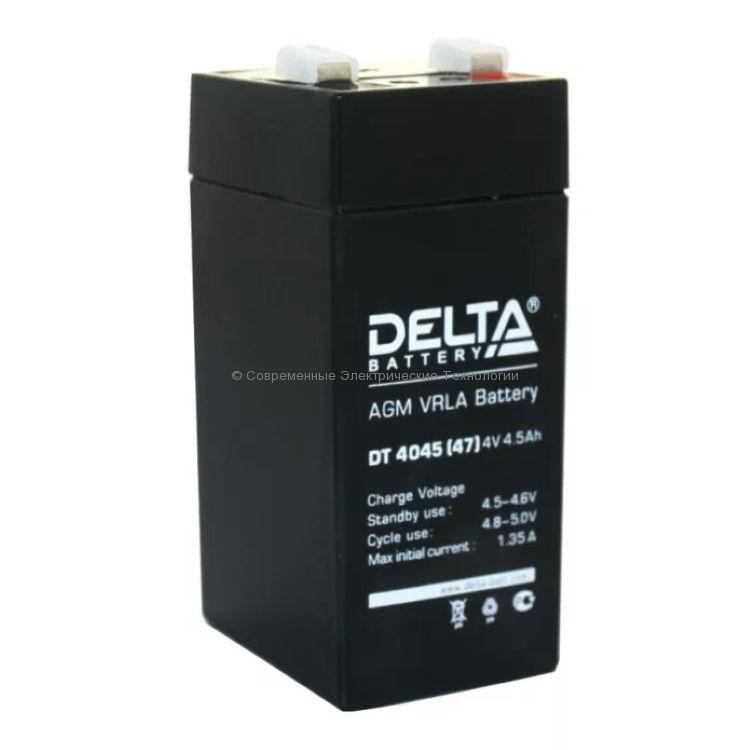 Аккумуляторная батарея DELTA 4В 4.5Ач DT 4045(47)