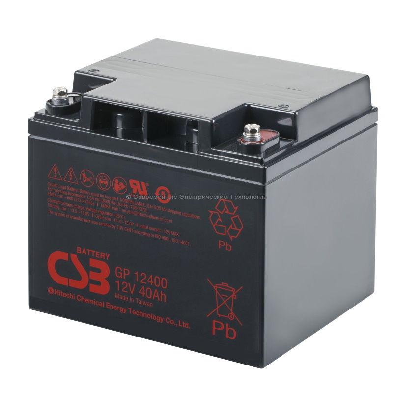 Аккумулятор 12В 40Ач GP 12400 CSB