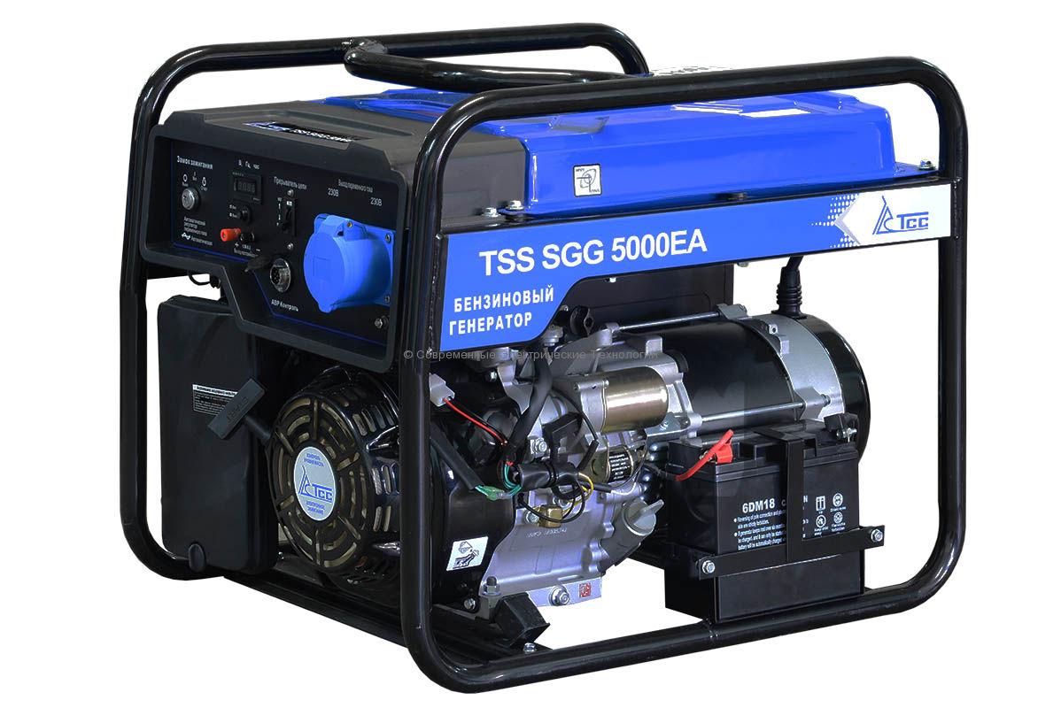 Бензогенератор 5кВА/5кВт SGG 5000 EA