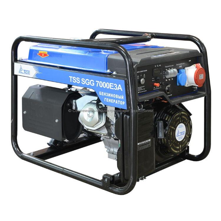 Бензиновый генератор ТСС 8.8кВА/7кВт 380В (TSS SGG 7000 E3A)