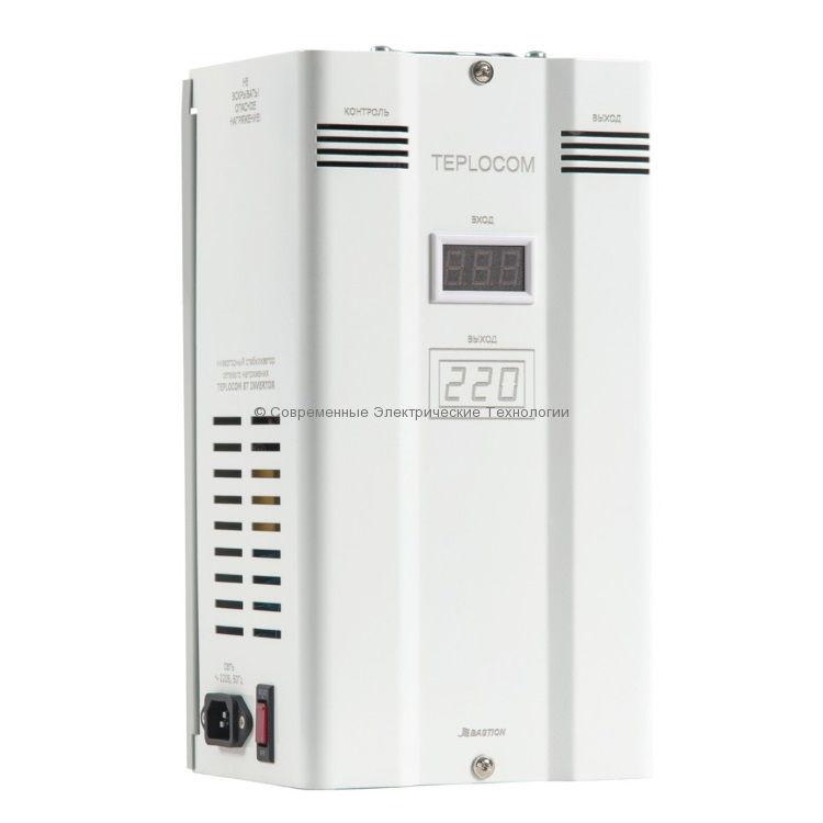 Cтабилизатор напряжения инверторный 1000ВА Teplocom ST-1000
