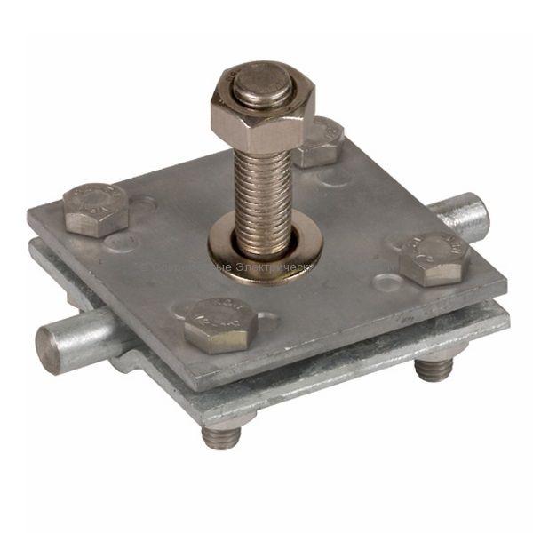 Зажим соединительный с резьбой М16 цинк