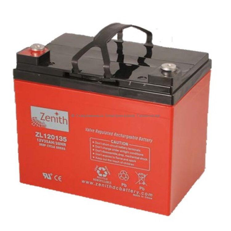 Тяговая аккумуляторная батарея 12В 35Ач (C20) 28Ач (C5) ZL120135